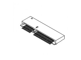 M.2 2.3H 67PIN 0.5MM PITCH, E KEY, SMT,TOP-MOUNT,R/A