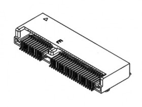 M.2 3.2H 67PIN 0.5MM PITCH, E KEY, SMT,TOP-MOUNT,R/A,