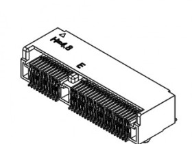 M.2 4.8H 67PIN 0.5MM PITCH, E KEY, SMT,TOP-MOUNT,R/A,